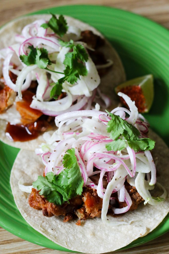 Filipino Chicken Adobo Tacos